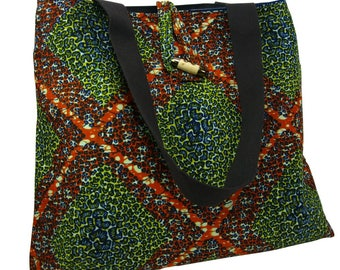 African Print Tote Bag, Shoulder Bag Everyday Bag, Beach Bag, Holiday Bag, Wax Print, Shopping Tote, Wax Print Shopping Bag Abstract Print