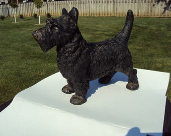Cast Iron Dog, Scottish Terrier,  Cast Iron Terrier, Cast Iron Door Stop, Door Stop, Iron Dog, Metal Dog, Metal Door Stop, Terrier Dog,