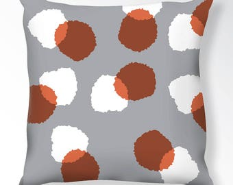 Puff Pattern Throw Pillow, Decorative Throw Pillow