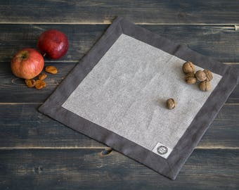 Table linen napkin set Cloth napkins Table setting linen placemat Eco friendly kitchen Personalized napkin grey placmat reusable napkin