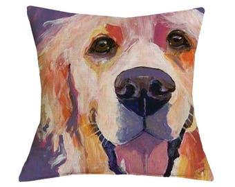 Animal Prints Golden Retriever Pillow Case