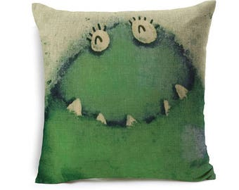 Kids Cartoon Animal Cushion Cover Frog Throw Pillow Case