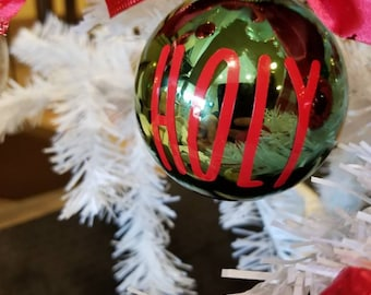 Large Glass Ornaments, Sets of 2