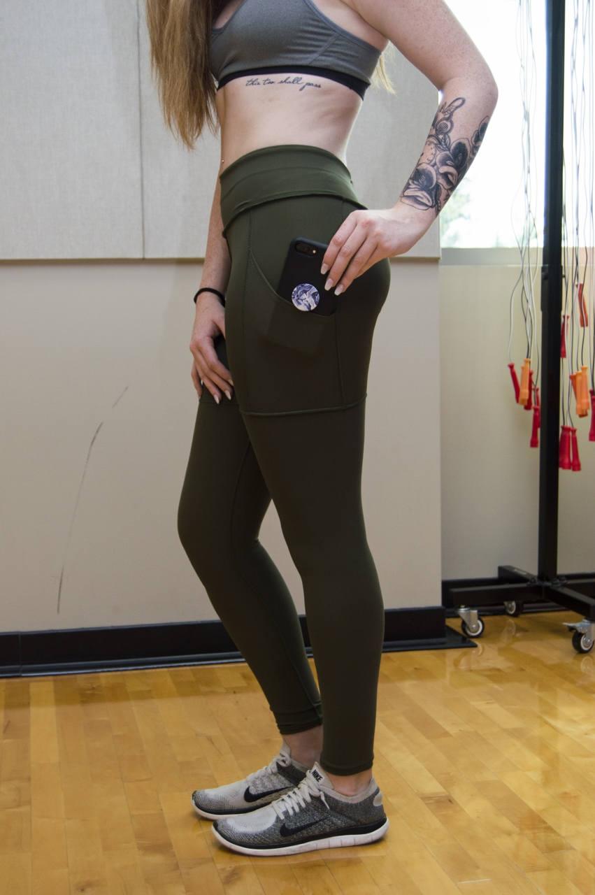 Olive yoga pants-9637
