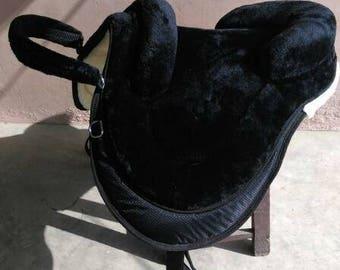 English style Luxury treeless bareback pad vegan saddle