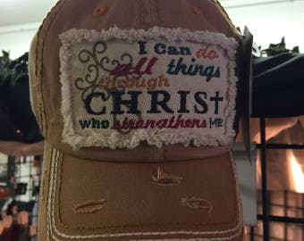 All things thru Christ.. Hat