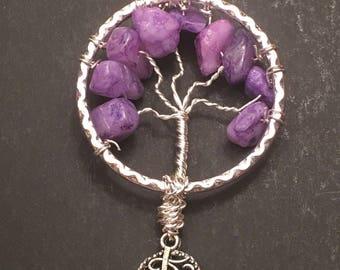 Purple Crystal Tree of Life