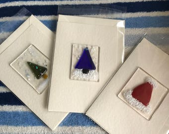 Fused glass Christmas  card