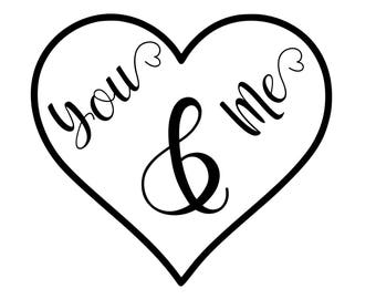 You and Me SVG