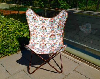 free shipping - Cover for Butterfly Chair - Boho chair - Vintage style chair