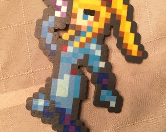 Zero suit samus perler beads 16 bit Nintendo video games Metroid Prime super smash bros