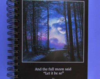 Handmade to Order 'Full Moon Journal'-Wire bound notebook-Bullet Journal-poems by L.L. (llmusings)