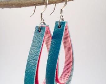 Turquoise and Red Teardrop Earrings, Teardrop Earrings, Turquoise and Red Dangle Earrings, Dangle Earrings, Teardrop Earrings
