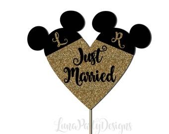 Mouse Ears Wedding Cake Topper