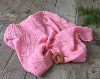 Paris Pink Swaddle blanket/ Double Gauze Swaddle/ Baby Blanket /Babyshower Present/ Personalized Swaddle