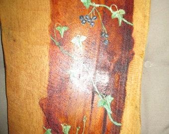 Painting on teak wood