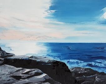 Sennan, Oil on paper. Framed.