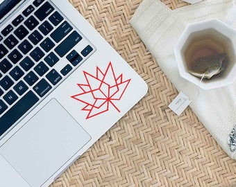 Geometric Maple Leaf Decal