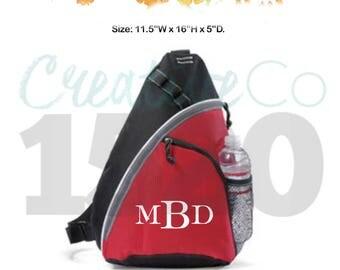 Custom Monopack Bag | Custom Sling Bag | Custom Backpack | Monogrammed Backpack | Sling Bag | Sling Backpack | Backpack