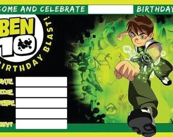 Ben 10 A6 Children's Birthday Party Invitations