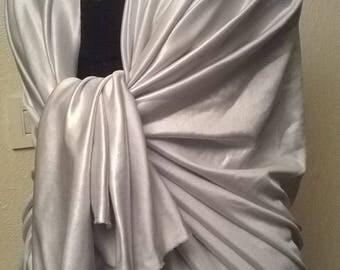 Cream colored wedding shawl