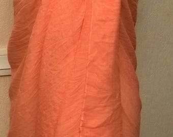 Peach colored pure cotton pareo
