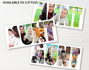 Personalized Aunt Photo Collage, Personalized Picture Collage, Auntie Gifts, Aunt Gift, Birthday Gifts for Her, Aunty Gifts, Digital File