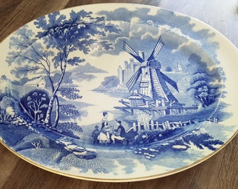 """Serveerschaal Palissy Ware """"Windmill"""" England"""