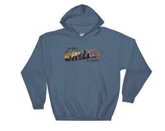 Hooded Sweatshirt, Top Notch Grizzly, Gifts for Him