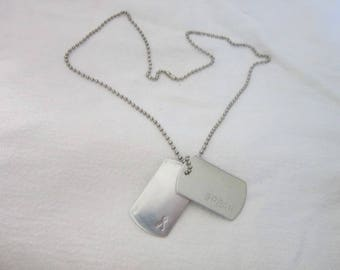 Retro Dog Tag ID Necklace