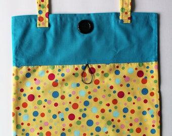Take Along Tote Fold Up Tote Diaper Wipe Tote Book Bag Travel Fun Tote Library Book Tote