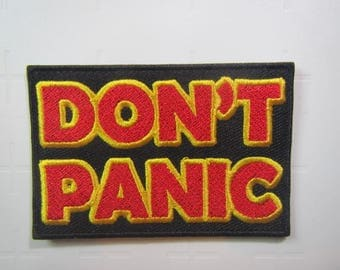 Don't Panic  - Hitchhiker's Guide to the Galaxy -  Iron on Patch