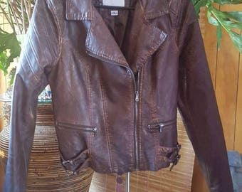 Maurices brown  leather  coat