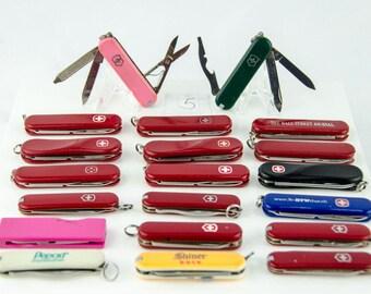 Victorinox Swiss Army 20 Knife Lot 10 Delemont 2 Escort 1 Signature Lite 7 More
