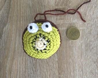 Crochet kiwi fruit