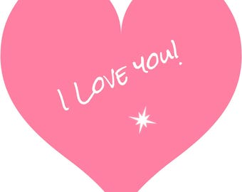 Individual 140mm Square Blank I LOVE YOU Card  Add own message