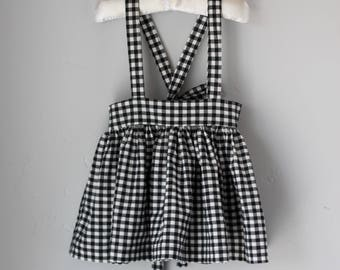 Gingham Suspender Dress