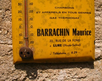 A rare French vintage centigrade advertising thermometer 1950s