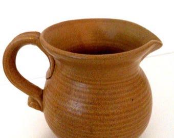 Pottery pitcher | Vintage pitcher | Pottery dish