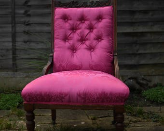 Victorian Button Back Nursing Chair