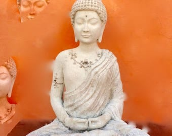 Orange Buddha photo print