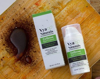 Summer SALE Vya Naturals Caffeine Eye Cream With Green Coffee Extracts- Anti-Aging- Reduces Dark Circles, Puffiness & Fine Lines - Avocado,