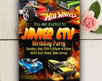Hotwheels birthday Etsy