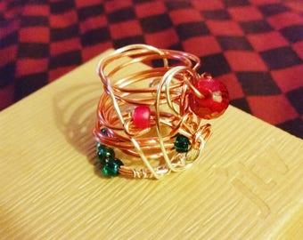 Earrings, rings and