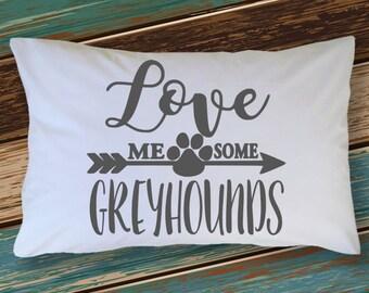Greyhound - Greyhound Pillow Case - Greyhound Gifts - Soft Greyhound Pillowcase - Cute Greyhound Gift Idea for Christmas - Dog Pillow Case