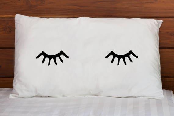 Eyelash Pillowcase - Eyelashes Pillow Cover - Teen Pillowcase - Funny Pillowcase - Christmas Gift Ideas - Cute Pillowcase for Her & Eyelash Pillowcase Eyelashes Pillow Cover Teen Pillowcase pillowsntoast.com