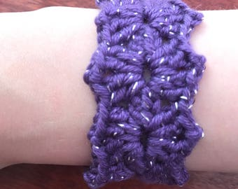 Sparkly purple buttoned cuff!