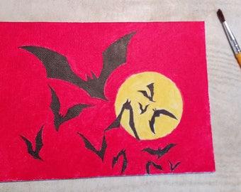 Bats Acrylic Painting