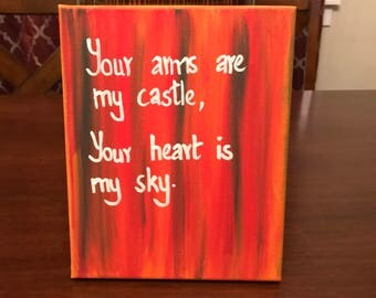 Your arms are my castle