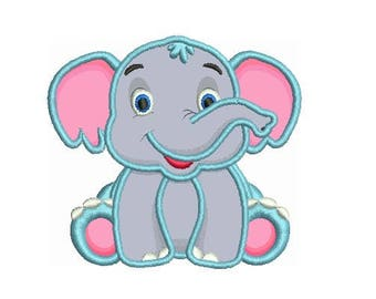 Elephant Applique Design Embroidery Design Fill Design For Boy Girl Baby Machine Embroidery Instant Download Digital File EN2014E2